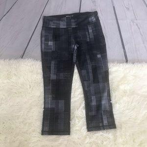 Ideology Black & White Activewear Legging Capri